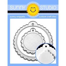 Sunny Studio Stamps - DIES / Scalloped Tag Circle