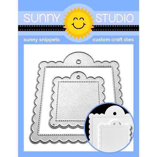 Sunny Studio Stamps - DIES / Scalloped Tag Square