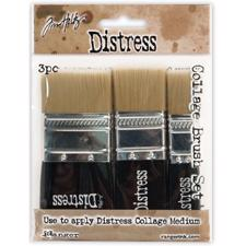 Tim Holtz Distress Collage Brushes - 3 Pack Assortment