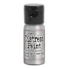 Distress Acrylic PAINT - Flip-Top / Brushed Pewter (sølv)