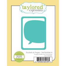 "Taylored Expressions Dies - 3x4"" Bubble In"