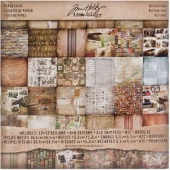 Tim Holtz Paper Pad - Destinations