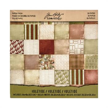 "Tim Holtz Paper Pad 8x8"" - Mini Stash / Yuletide"