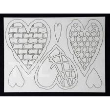 Tando Creative Chipboard - Textured Hearts