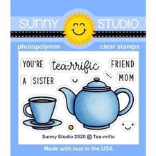 Sunny Studio Stamps - Clear Stamp / Tea-Riffic