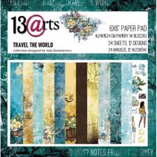 "13@rts Paper Pack 6x6"" - Travel the World"