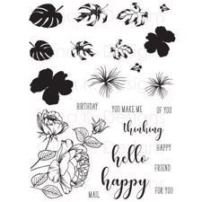 Gina K Design Clear Stamps - Tropical Blooms