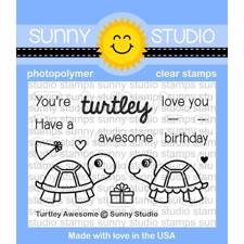 Sunny Studio Stamps - Clear Stamp / Turtley Awesome