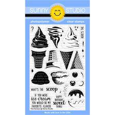 Sunny Studio Stamps - Clear Stamp / Two Scoops