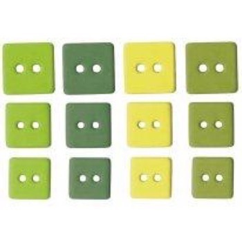 Buttons - Square / Greens