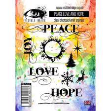 Visible Image Clear Stamps - Peace Love and Hope