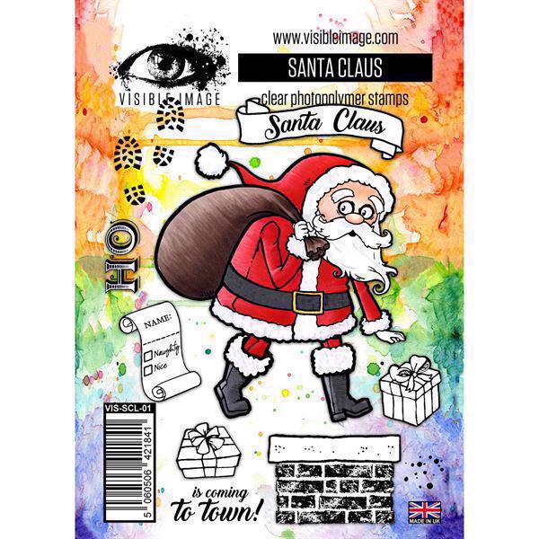 Visible Image Clear Stamps - Santa Claus