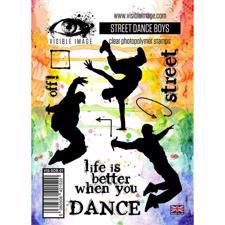 Visible Image Clear Stamps - Street Dance Boy