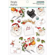 Simple Stories Die Cuts - Sticker Book / North Pole
