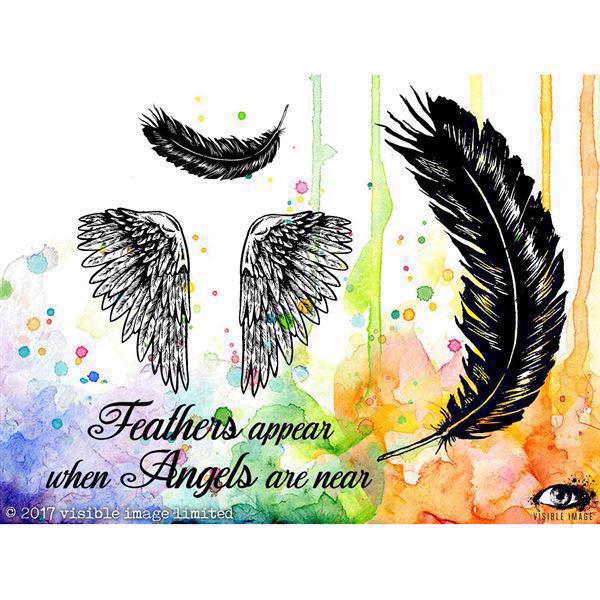 Visible Image Clear Stamps - Angels are Near