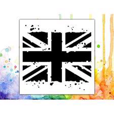 Visible Image Stencil - Grungy Union Jack