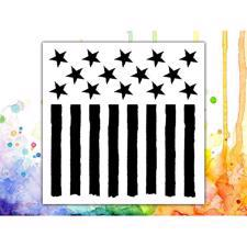 Visible Image Stencil - Stars and Stripes