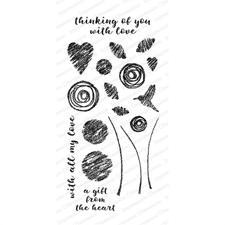 IO Stamps Clear Stamp - Chalk Florals 2