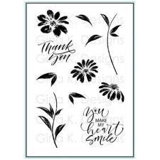 Gina K Design Clear Stamps - Watercolor Flowers