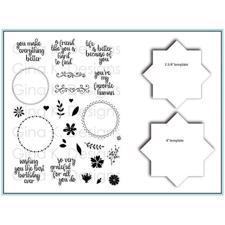 Gina K Design - Wreath Builder Bundle (Clear Stamps + Templates)