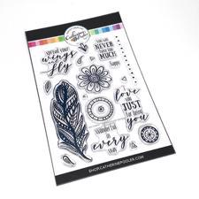 Catherine Pooler Stamps - Zen Feather