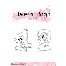 Anemone_Design by Ditte Clearstamp - Teddy Bear 1 & 2
