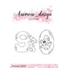 Anemone_Design by Ditte Clearstamp - Teddy Bear 9 & 0