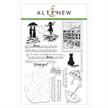 Altenew Clear Stamp Set - Dancing in the Rain