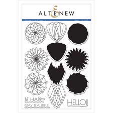 Altenew Clear Stamp Set - Geometric Flowers