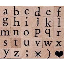 Artemio Wood Mounted Stamp - Alphabet Lower Case