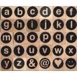 Artemio Wood Mounted Stamp - Alphabet Circles Lower Case
