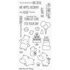 My Favourite Things Stamp Set - Happy Hippos