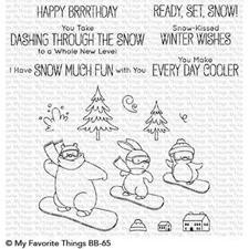 My Favourite Things Stamp Set - Ready, Set, Snow (snowboards)