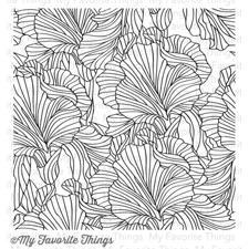 My Favorite Things Background Cling Stamp - Etched Flower