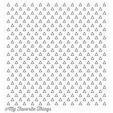 My Favorite Things Background Cling Stamp - Transparent Triangles