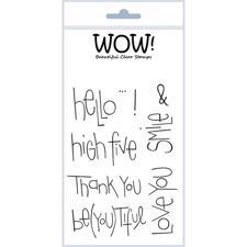 WOW Clear Stamp Set - Big Words