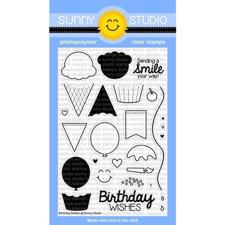 Sunny Studio Stamps - Clear Stamp / Birthday Smiles