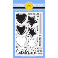 Sunny Studio Stamps - Clear Stamp / Bold Balloons