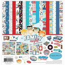 "Carta Bella Scrapbook Paper Collection Kit 12x12"" - Family Night"