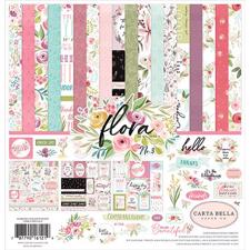 "Carta Bella Scrapbook Paper Collection Kit 12x12"" - Flora no. 3"