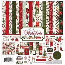 Carta Bella Scrapbook Paper Collection Kit - Hello Christmas