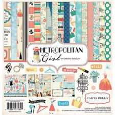 "Carta Bella Scrapbook Paper Collection Kit 12x12"" - Metropolitan Girl"