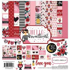 Carta Bella Scrapbook Paper Collection Kit - Hello Sweetheart