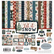 Carta Bella Scrapbook Paper Collection Kit - Let it Snow