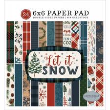 "Carta Bella Paper Pad 6x6"" - Let it Snow"