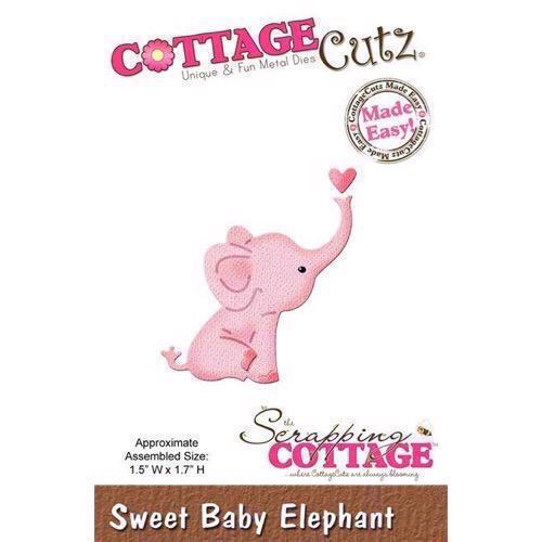 Cottage Cutz  Die - SWEET Baby Elephant (pink)