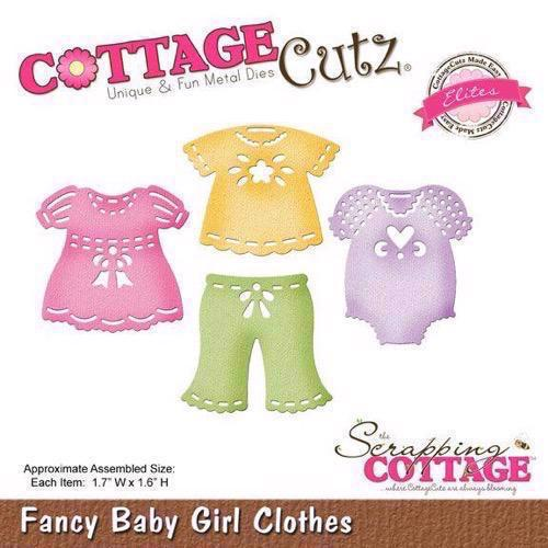 Cottage Cutz  Die - Fancy Baby Girl Clothes