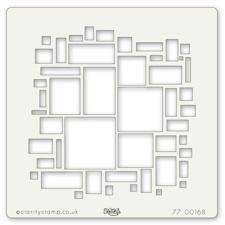 ClarityStamp Art Stencil - Abstract Squares 7x7""