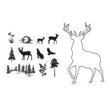 ClarityStamp Stamp & Mask Set - Stag Outline