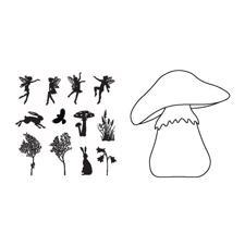 ClarityStamp Stamp & Mask Set - Toad Stool Outline
